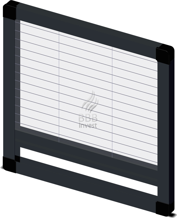 Pleated insects screens - vertical drive - Ral 7016
