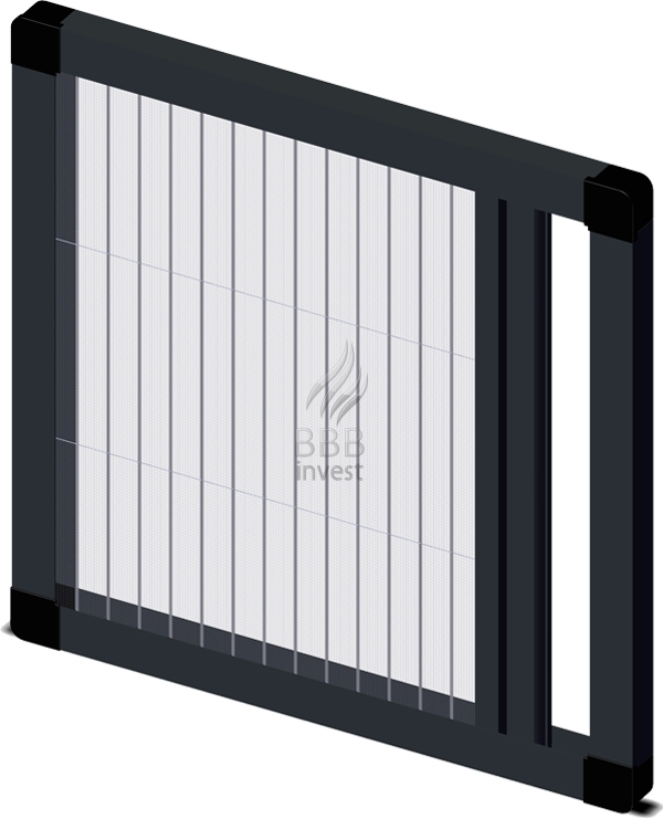 Pleated insects screens - horizontal drive - Ral 7016