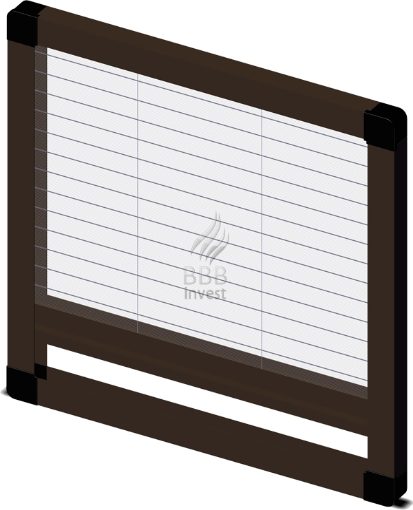Pleated insects screens - vertical drive - Ral 8014