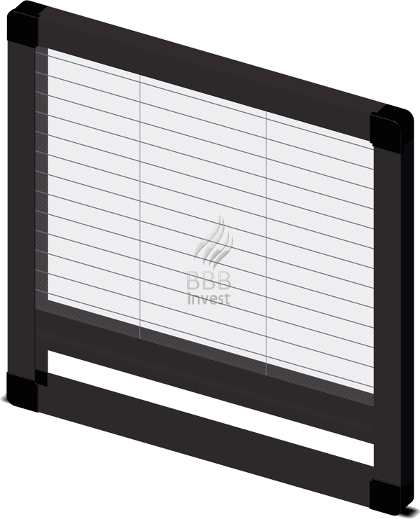 Pleated insects screens - vertical drive - Ral 8019