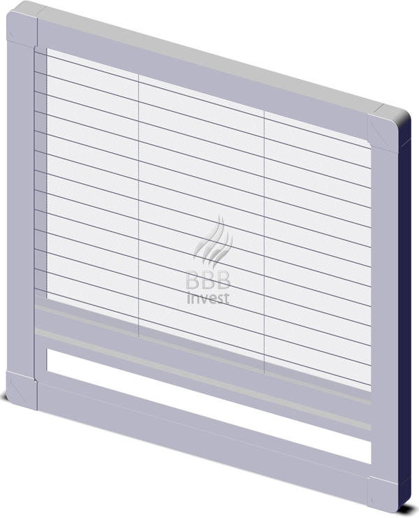 Pleated insects screens - vertical drive - Ral 9010
