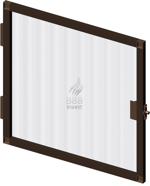 B'SMART Fixed or Swing Insects Screen - Ral 8014