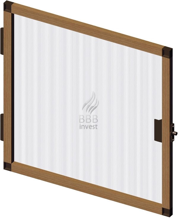 B'SMART Fixed or Swing Insects Screen - Golden Oak