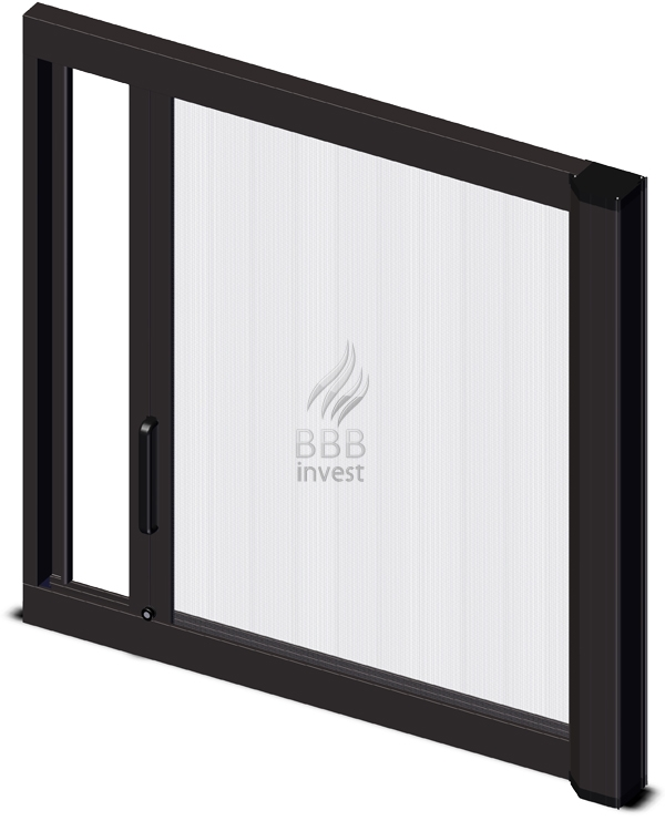 Roller Insects Screens - horizontal drive - Ral 8019