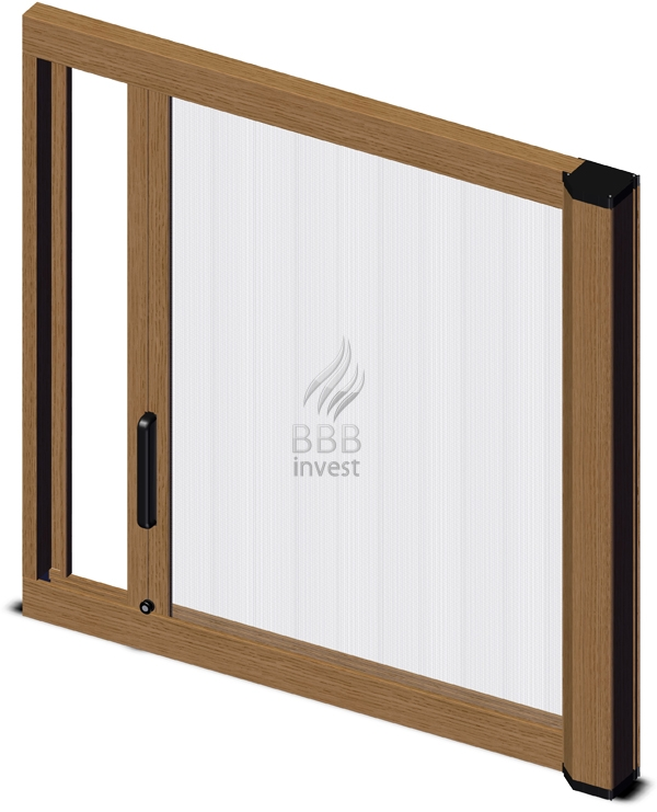 Roller Insects Screens - horizontal drive - Golden Oak